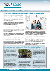 Media Coverage two page Private client newsletter