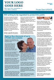 Sample 2-page Newsletter for Law Firm Private Clients