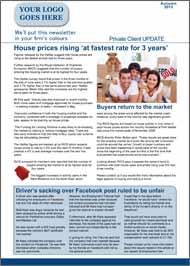 Media Coverage sample 4 page private client newsletter