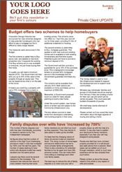 Media Coverage private client newsletter