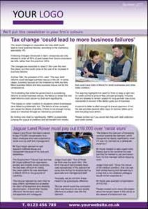 Example Media Coverage business newsletter