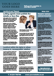 Sample Landlord and Tenant Newsletter