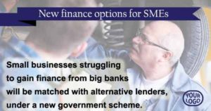 New finance options for SMEs who have been turned down by banks