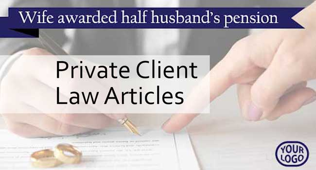 Private law articles