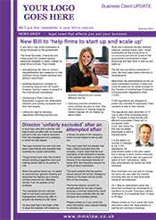 Sample 4 page Business Newsletter