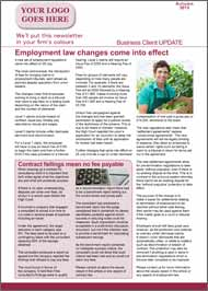 Media Coverage 4 page business newsletter