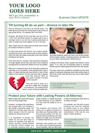 Choose your own articles newsletter