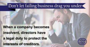 Directors - don't let a failing business drag you under