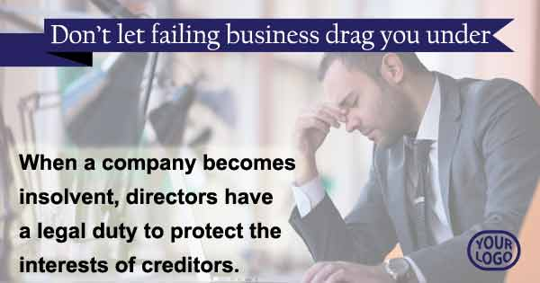 Directors - don't let a failing business drag you under
