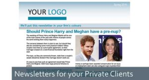 Newsletter private clients