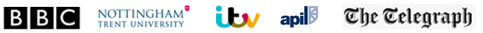 BBC, Nottingham Trent University, ITV, APIL, The Telegraph